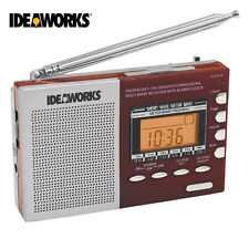 IdeaWorks Digital Shortwave Worldwide 9-Band LCD Display Compact Portable Radio