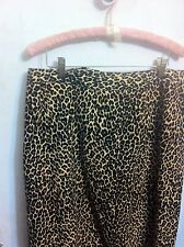 Newport News Brown Leopard Velveteen Straight Pencil Skirt Size 22W