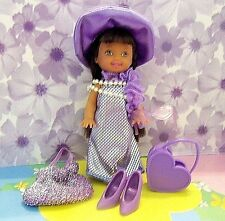 """Kelly Doll Clothes *Lavender """"Dress Up"""" African Kelly Doll w/Accessories* (j)"""