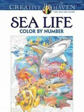 Adult Coloring: Creative Haven Sea Life Color by Number Coloring Book by...