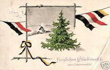 17381/ Patriotika AK, Weihnachtsgruß, Flaggen, 1915