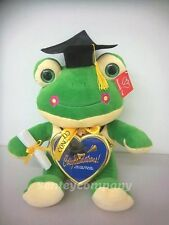 "Graduation Gift Big Frog w/ Cap Outfit 13"" tall with heart picture frame 2016"