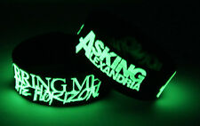 BRING ME THE HORIZON ASKING ALEXANDRIA H7A7 2x Wristband Glow in the Dark