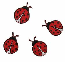 "#3458S Lot 4Pcs 1"" Ladybug Embroidery Iron On Applique Patch"