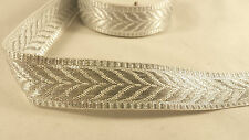 2.3cm- 1 meter Beautiful Silver lace trim ribbon for crafting dress designing