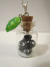 Adorable Totoro Spirited Away Soot Sprite Bottle Necklace Jewelry Charm Pendant