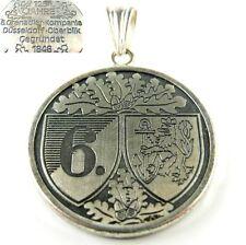 835er Silber Anhänger mit Medaille 6. Grenadier-Kompanie Düsseldorf-Oberbilk