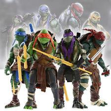 New Teenage Mutant Ninja Turtles Action Figures Toys TMNT Set of 4Pcs Model Toys