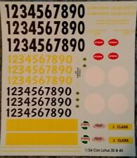 Repro 1/24 Cox Lotus 30 & 40 Decal Set