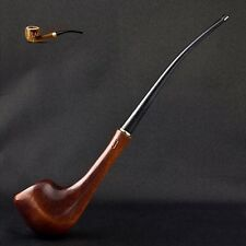"HAND MADE LADY WOODEN  SMOKING PIPE   "" Lady Minion ""   CHURCHWARDEN"