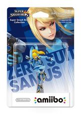 Nintendo Amiibo Super Smash Bros Zero Suit Samus UK Character Wii U 3DS New