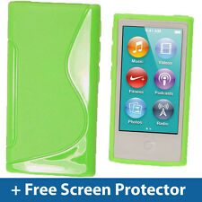 Green Dual Tone TPU Gel Case for New Apple iPod Nano 7th Generation 7G Cover