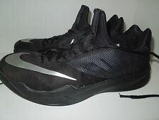 """Size 13 """"Nike Zoom"""" Run The One Basketball Shoes Black/Silver 653636 001"""