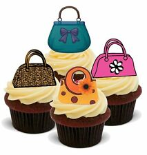 NOVELTY HANDBAGS GLAMOUR 12 STAND UP Edible Image Cake Toppers party birthday