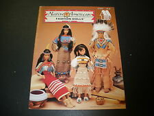 Native American Fashion Dolls, Annie's crochet patterns fit Barbie RARE