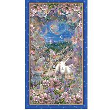 Dreamland Unicorn Fairies 24 x 43 inch 100% cotton print panel Quilting Treasure