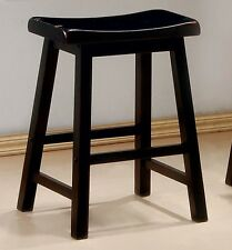 Antique Black Saddle Seat Counter Height Stool by Coaster 180019 - Set of 2