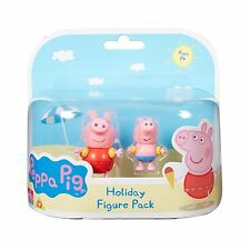 PEPPA PIG HOLIDAY FIGURES PEPPA AND GEORGE IN ARMBANDS NEW TOY