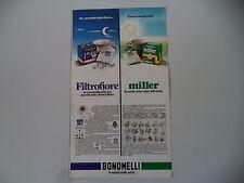 advertising Pubblicità 1974 CAMOMILLA FILTROFIORE MILLER BONOMELLI