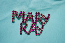 Mary Kay Purple Crystal Pin Brooch Cosmetics Lipstick Blush Free Shipping