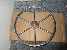 Vintage Stainless Steel Boat Steering Wheel....Ship Nautical Maritime Helm