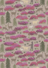 Fat Quarter A Walk In The Glen on Light Earth 100% Cotton Quilting Fabric