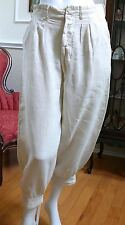 1910-20`s  Irish Linen Man`s Off White Knickers Gatsby Golf Trousers S