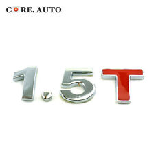 Styling Sliver & Red 1.5 T Chrome Car Boot Lettering Emblem Sticker For All Car