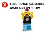 Lego minifigures punk rocker series 4 (8804) new factory sealed