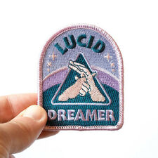 Lucid Dreaming Patches Iron Sew On Embroidered Applique Bag Hat Accessory Badge