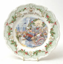 "Royal Doulton Brambly Hedge Porcelain ""The Snow Ball"" Plate"