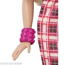 2016 Barbie Evolution Fashionistas Jewelry Hot Pink Wide Cuff Bracelet Accessory