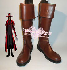 HELLSING OVA:DIGEST FOR FLEAKS Alucard cosplay shoes boots Custom-Made 655