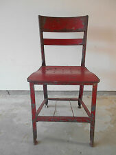 OLD MILITARY STUDENT'S METAL DESK CHAIR FROM VIRGINIA MILITARY ACADEMY