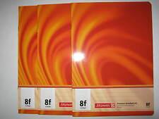 Heft A5 Lin 8f,3 Stück,langkariert, Premium Schulheft, Brunnen Vivendi