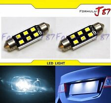 SMD LED Canbus Error Free Fuse 3W 43mm White 6000K Two Bulbs Replacement Lamp