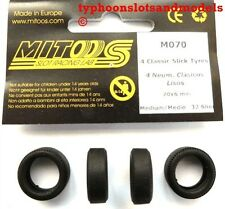 M070 Mitoos Classic Slick Tyres x 4 - 20 x 6mm - New