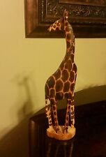 Animals African Wooden Exotic Giraffe Hand Carved Art Home Decor