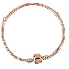21CMS ROSE GOLD PLATED SNAKE CHAIN BRACELET FOR CHARMS & BEADS