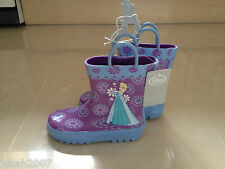 Disney Store Exclusive Frozen Rain Boots For Kids Size 12 NEW **LOOK**