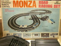 monza slot car road racing set SPEEDKING battery op remote control ho scale