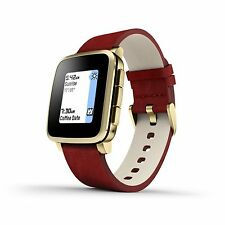 Pebble Time Steel Smartwatch for Apple/Android Devices - Gold Certified