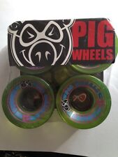 PIG WHEELS Skateboard Cruiser Wheels 60 mm ROVERS     Green