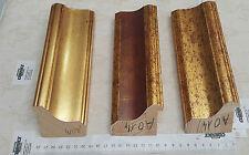 cornice in legno abete oro  a foglie  cornici confezionate  aste per cornici  mi