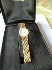 Authentic Tiffany & Co. Solid 18k Ladies Watch & Band w/ Diamond Bezel
