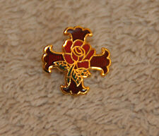 Masonic Rosicrucian Gold Plated Lapel Pin (LP024)