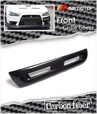 Carbon Fiber Front Bumper Center Grille Cover for Mitsubishi Evolution X EVO 10