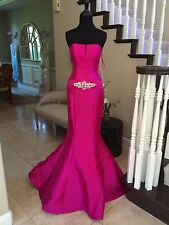 $500 NWT FUCHSIA JOVANI PROM/PAGEANT/FORMAL DRESS/GOWN #99028A SIZE 2