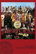 The Beatles Poster Sgt. Sergeant Pepper's Lonely Hearts Club Band Wall Art Large