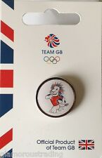OFFICIAL TEAM GB RIO 2015 RUGBY MASCOT PICTOGRAM PIN